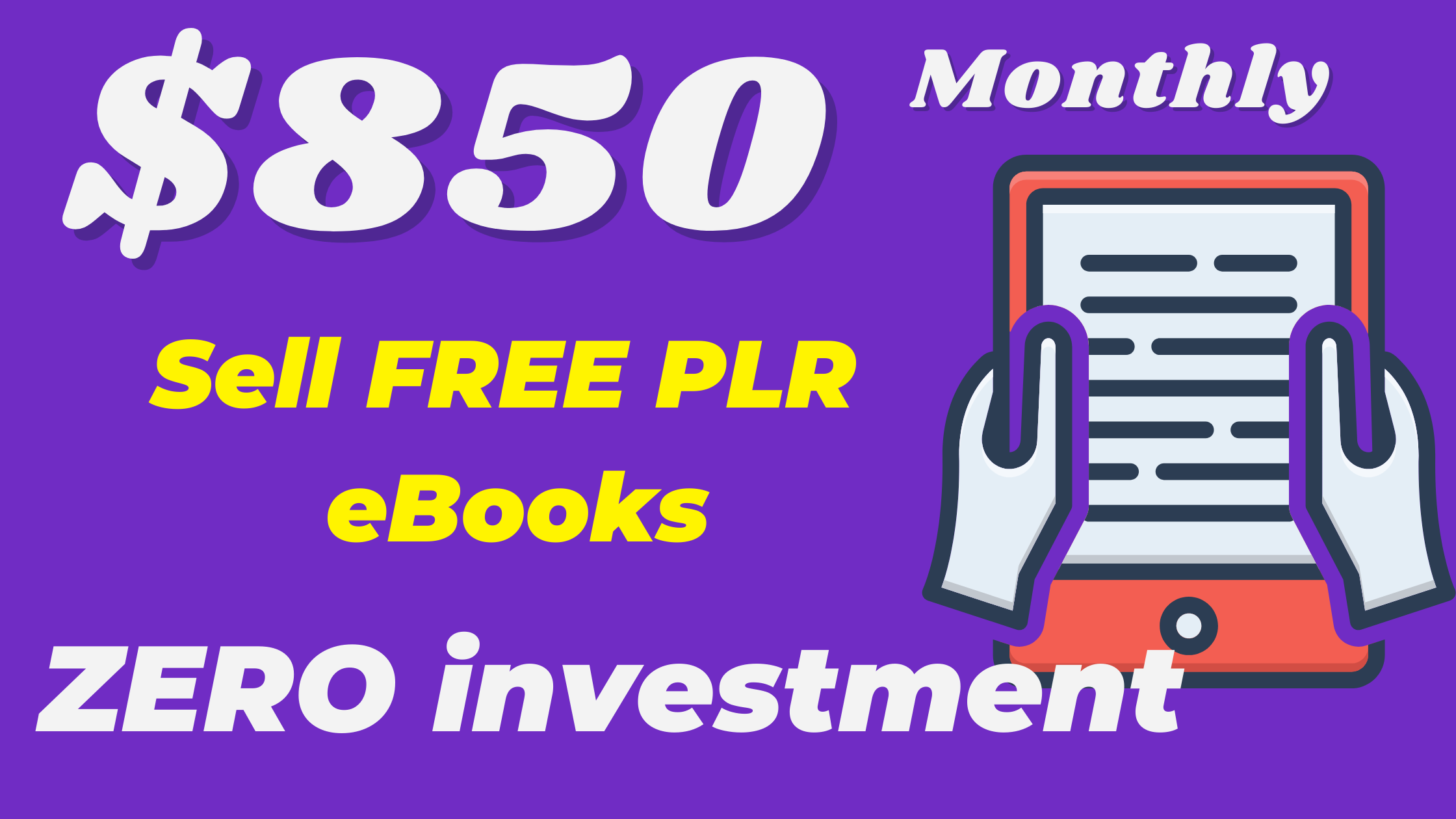 How To Sell PLR eBooks Online To Make Money $850/Month.