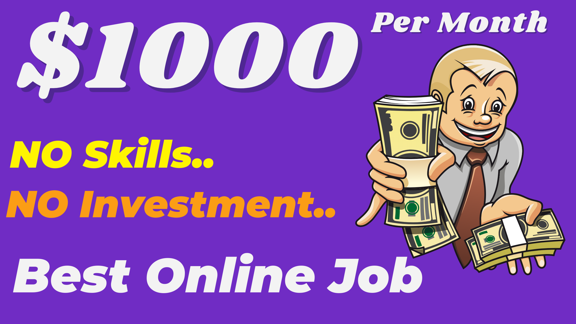 13 Best Online Part Time Jobs & Home Jobs To Earn A Minimum Of $1000 Per Month.