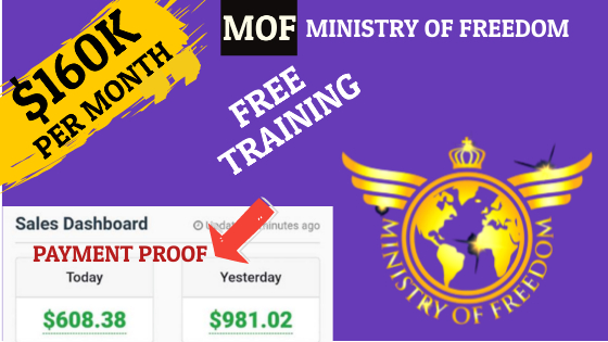 Ministry of Freedom Review (MOF) To Generate $160K Per Month