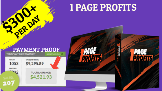 1 Page Profits Review: Do Not Buy This Without My Bonus.